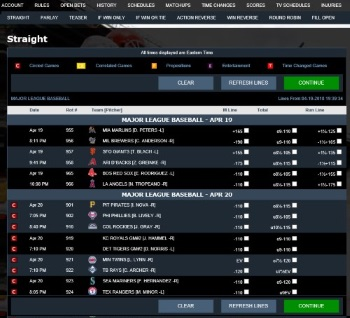 Player Betting Interface