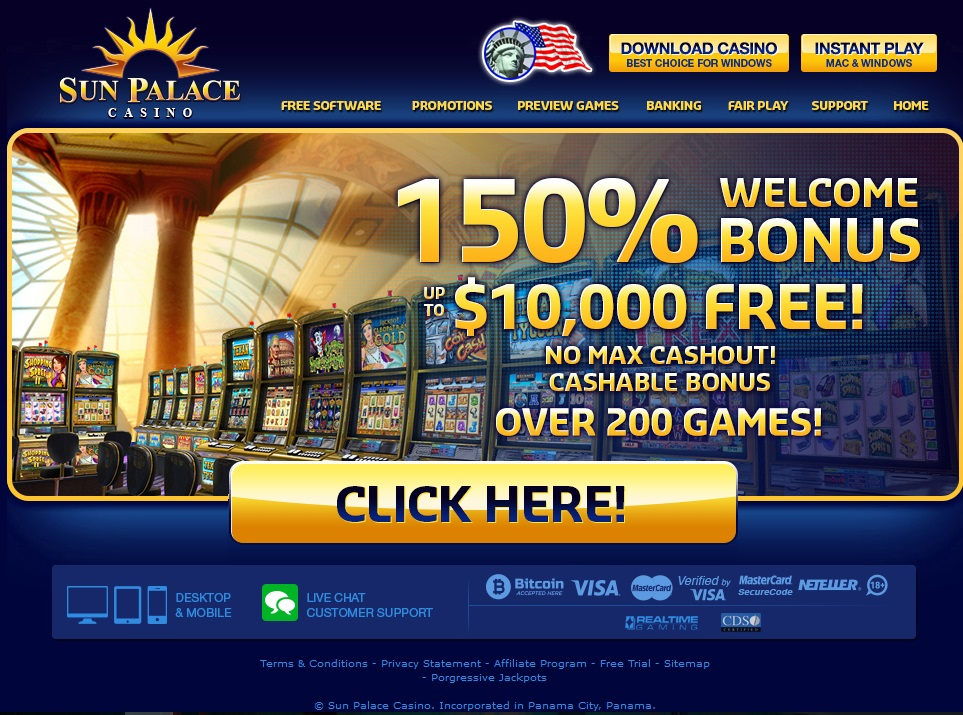 Sun Palace Casino Screenshot